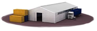 Leichtbauhalle als 3D Visualisierung
