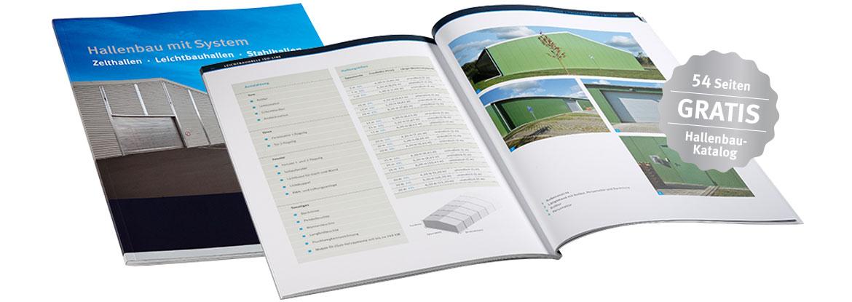 Hallenbau-Katalog mit 54 Seiten
