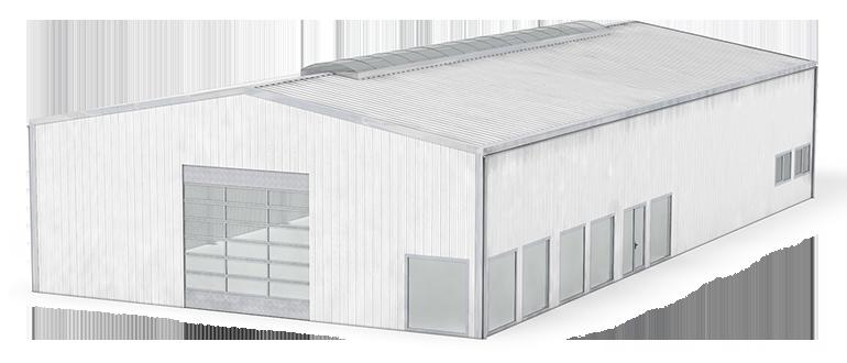 Stahlhalle ISO-Line mit Isolierung