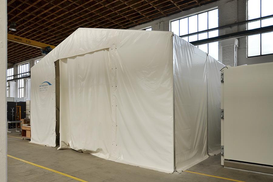 Forschungshalle 7,50 × 7,50 m | Brandlabor