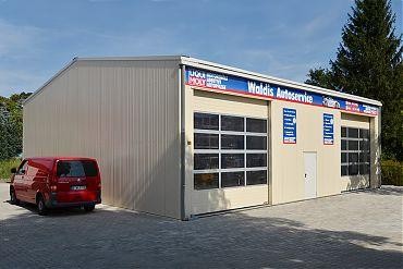 Werkstatthalle 15 × 15 m | Auto- und Reifenservice