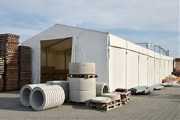 Lagerhalle 7,50 × 30 m | Übergangslager