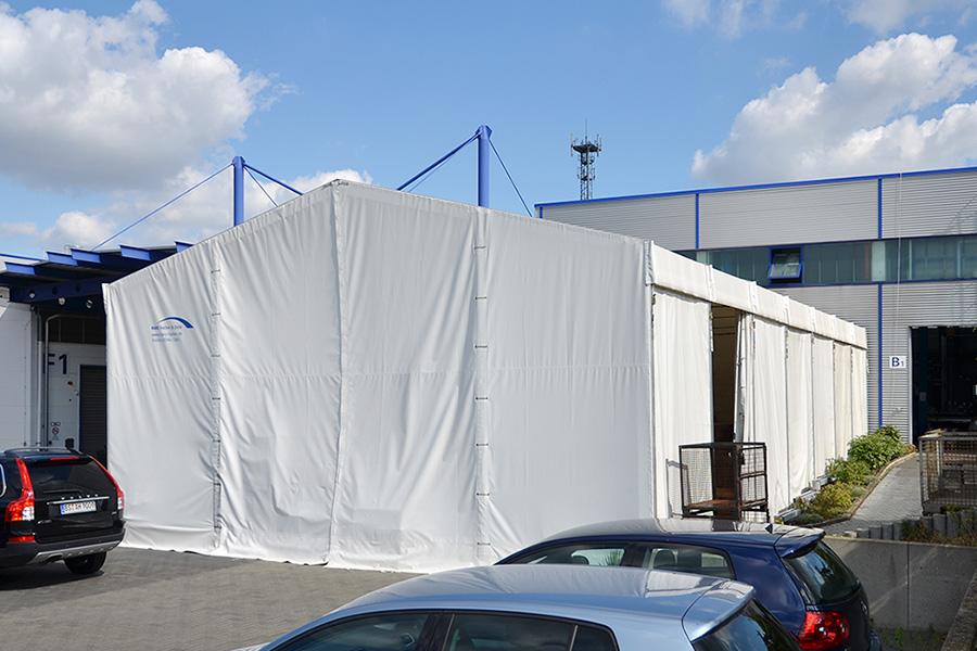 Lagerhalle 10 × 17,50 m | Lager für Oberflächenspezialist
