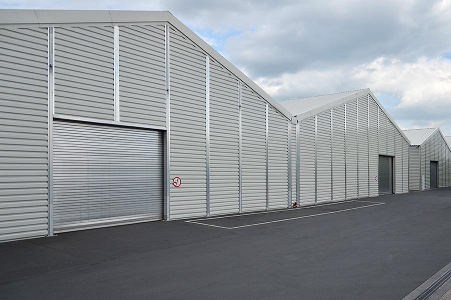 2 Stk. Logistikhalle 45 × 55 m (zweischiffig) | Logistikzentrum