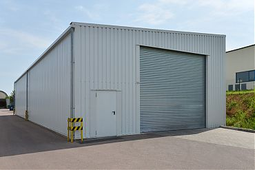 Lagerhalle 10 × 30 m | Lager für Rohstoffe