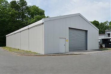 Lagerhalle 12,50 × 30 m | Lager für Hydrauliktechnik