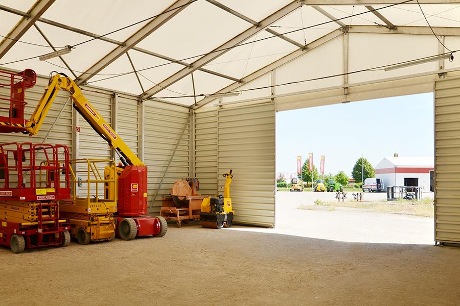 Fahrzeughalle 12,50 × 20 m | Baumaschinenverleih