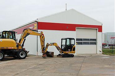 Werkstatthalle 10 × 20 m | Baumaschinenvermietung