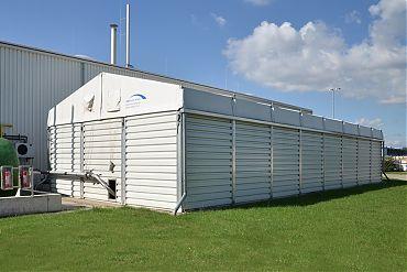 ndustriehalle 7,50 × 20 m | Wetterschutz für Gasspeicher