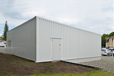 Lagerhalle 11 × 11 m | Reifenlager