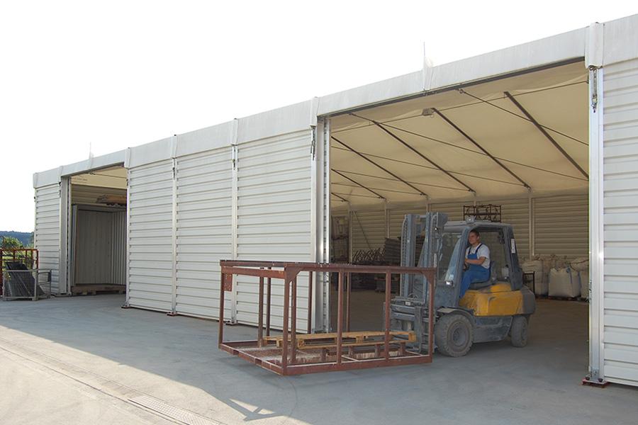 Lagerhalle 15 × 25 m | Lager für Lackiererei