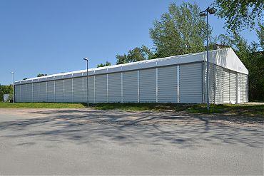 Lagerhalle 15 × 40 m | Mobiles Zwischenlager