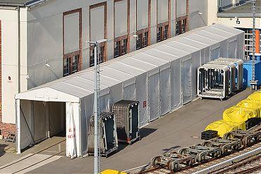 Montagehalle 5 × 37,50 m | Montagearbeiten