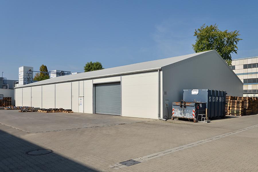 Lagerhalle 20 × 40 m | Lager für Kältetechnik