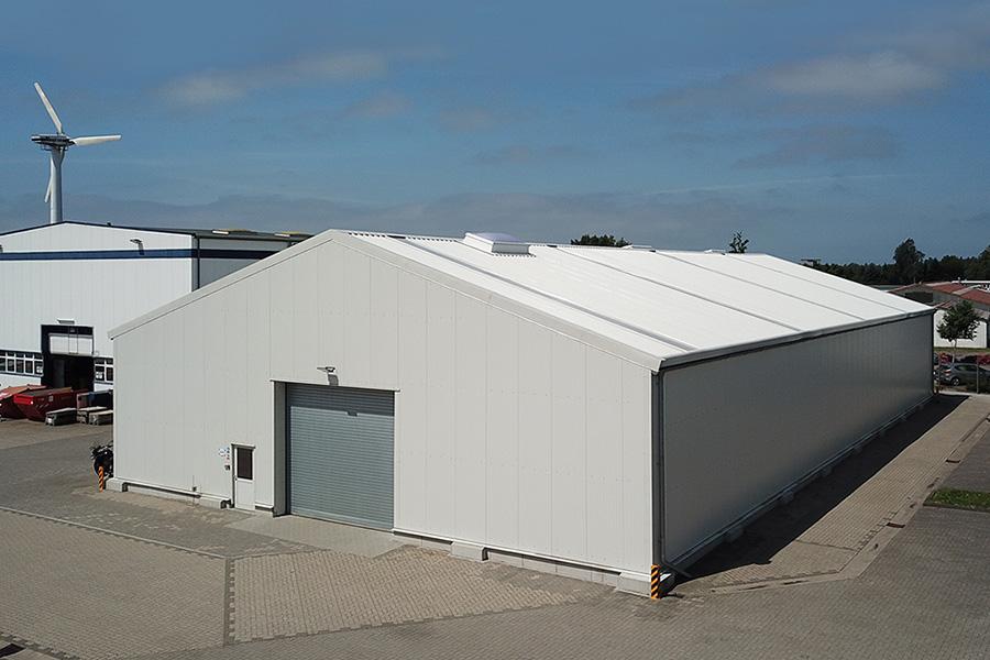 Lagerhalle 20 × 40 m | Ersatzteillager