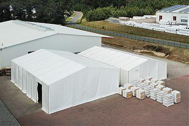2 Stk. Lagerhalle 10/12,50 × 20 m | Lager für Fenster und Türen